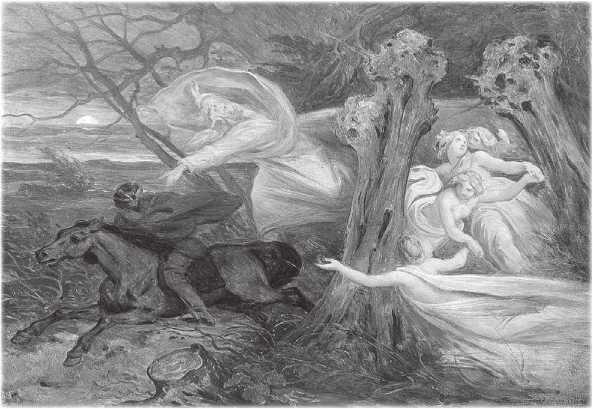 Иллюстрации к музыке шопена лесной царь