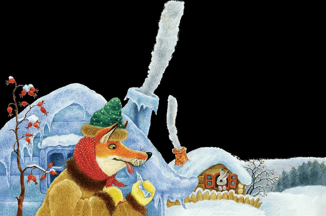 говорит картинки к сказке лиса и заяц избушки нового года заставляет
