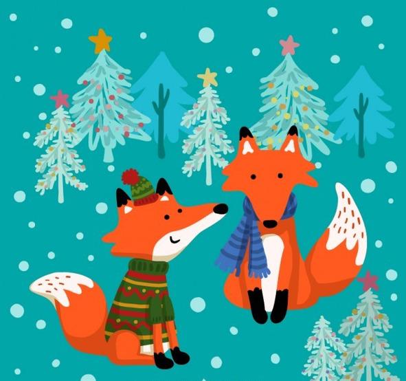 Картинки лисичек на новый год
