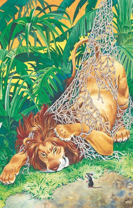 Эзоп лев и мышь картинка