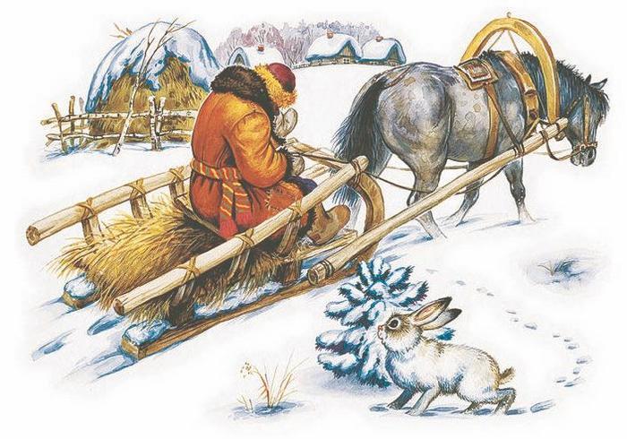Картинки к рассказу проказы старухи зимы ушинский