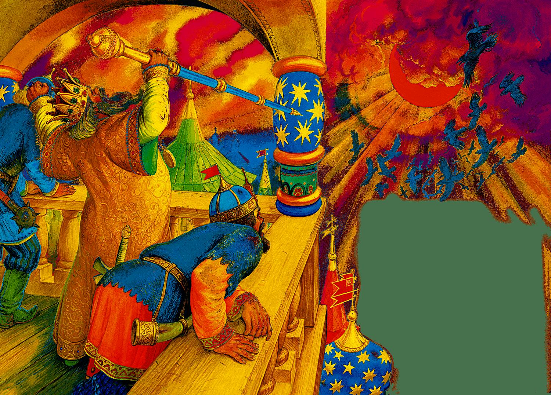 Картинка из сказки золотой петушок пушкина