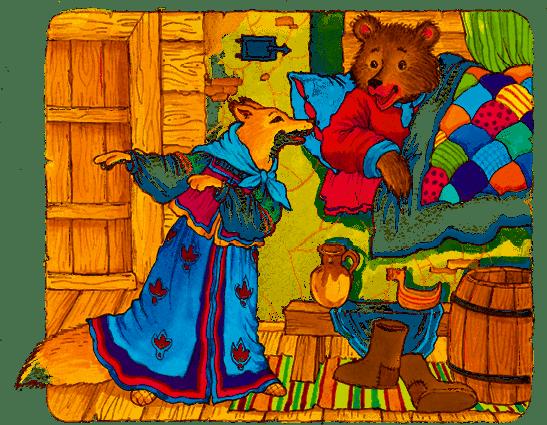 Картинка сказка медведь и лиса