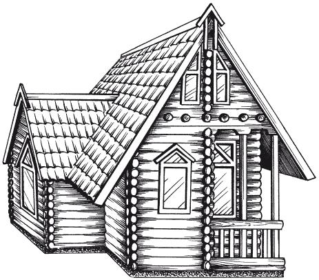 Рисунки деревянный дом с узорами