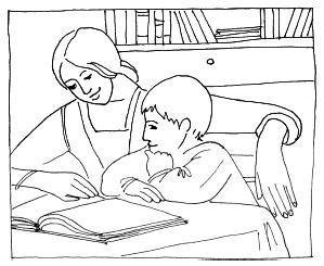 цвета рисунок я читаю вместе с мамой первая