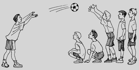 Подвижная игра с мячом в картинках
