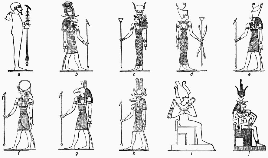 египетские божества с картинками устройство виде