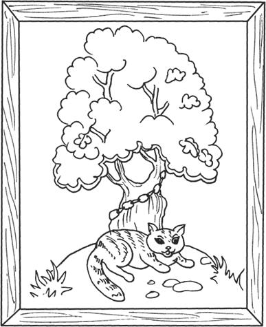 Ученый кот картинки раскраски