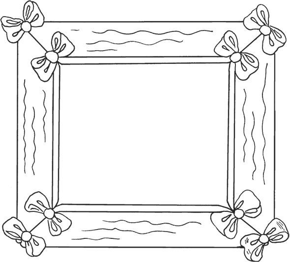 Рамки для открыток раскраска