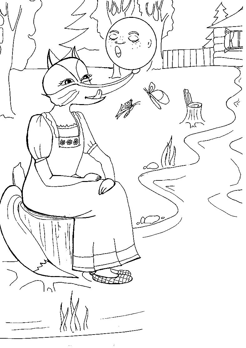 рисунки из сказки колобок и лиса гибридного томата лонг